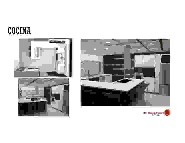 INTERIORISMO DE UNA VIVIENDA UNIFAMILIAR MAS ARQUITECTURA1 - Arq. Marynes Salas Cocinas de estilo moderno