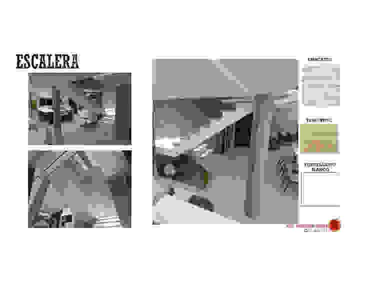 INTERIORISMO DE UNA VIVIENDA UNIFAMILIAR MAS ARQUITECTURA1 - Arq. Marynes Salas Pasillos, vestíbulos y escaleras de estilo moderno