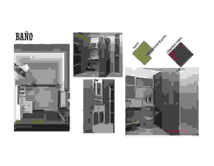 INTERIORISMO DE UNA VIVIENDA UNIFAMILIAR MAS ARQUITECTURA1 - Arq. Marynes Salas Baños de estilo moderno