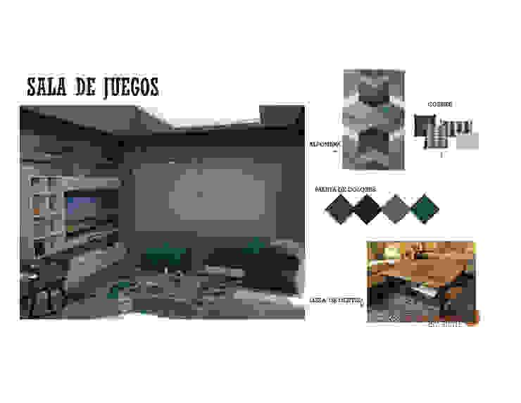 INTERIORISMO DE UNA VIVIENDA UNIFAMILIAR MAS ARQUITECTURA1 - Arq. Marynes Salas Salas de entretenimiento de estilo moderno