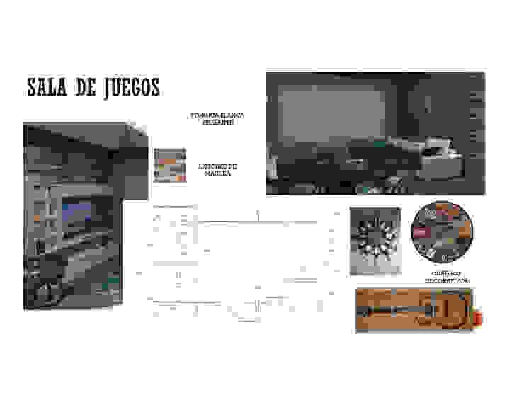 SALA DE JUEGOS MAS ARQUITECTURA1 - Arq. Marynes Salas Salas de entretenimiento de estilo moderno