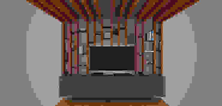 Render del mobiliario de xma studio