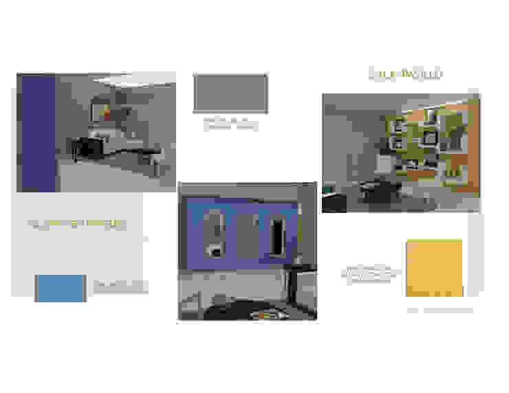 Pasillo MAS ARQUITECTURA1 - Arq. Marynes Salas Pasillos, vestíbulos y escaleras de estilo moderno