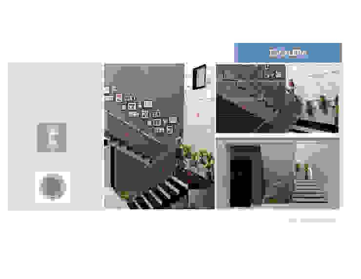 Escalera MAS ARQUITECTURA1 - Arq. Marynes Salas Pasillos, vestíbulos y escaleras de estilo moderno