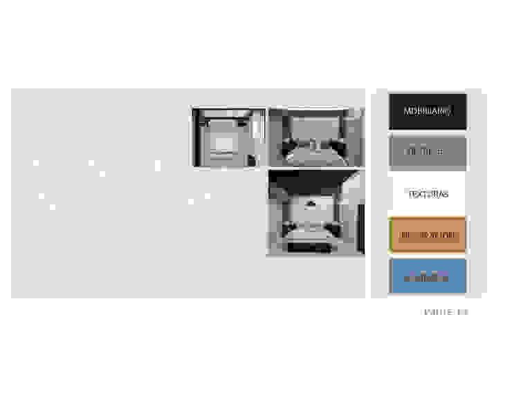 Espacios a Intervenir en Planta Alta MAS ARQUITECTURA1 - Arq. Marynes Salas Cuartos de estilo moderno