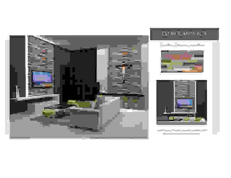 INTERIORISMO PARA UNA VIVIENDA UNIFAMILIAR DE 2 NIVELES MAS ARQUITECTURA1 - Arq. Marynes Salas Pasillos, vestíbulos y escaleras de estilo moderno
