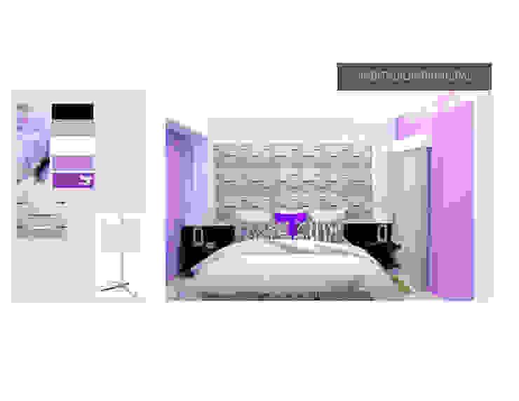 1ra Propuesta de Habitacion Principal MAS ARQUITECTURA1 - Arq. Marynes Salas Cuartos de estilo moderno