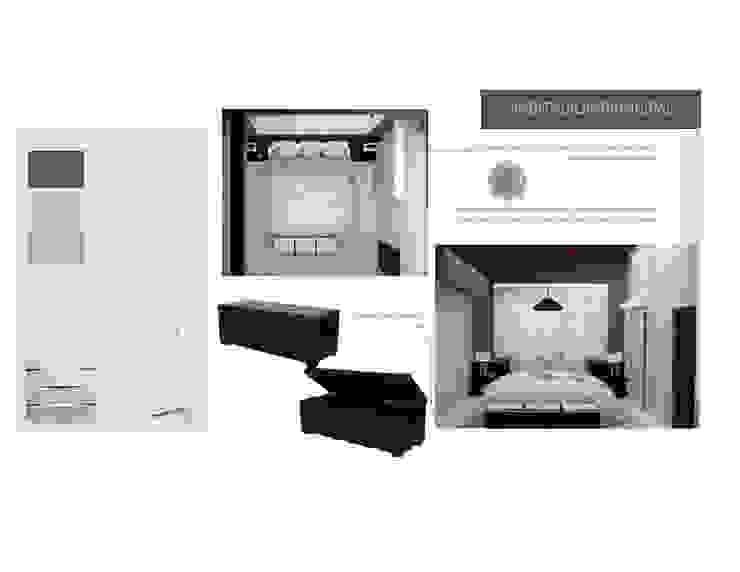 2da Propuesta de Habitacion Principal MAS ARQUITECTURA1 - Arq. Marynes Salas Cuartos de estilo moderno