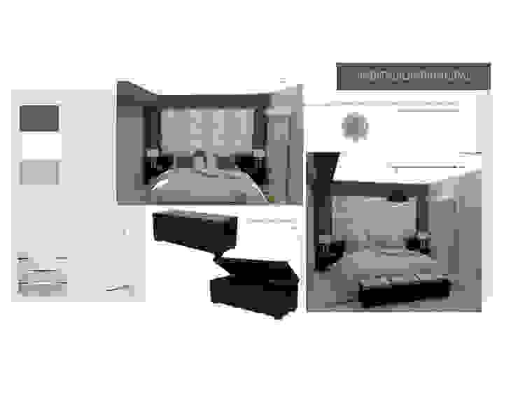 3ra Propuesta de Habitacion Principal MAS ARQUITECTURA1 - Arq. Marynes Salas Cuartos de estilo moderno