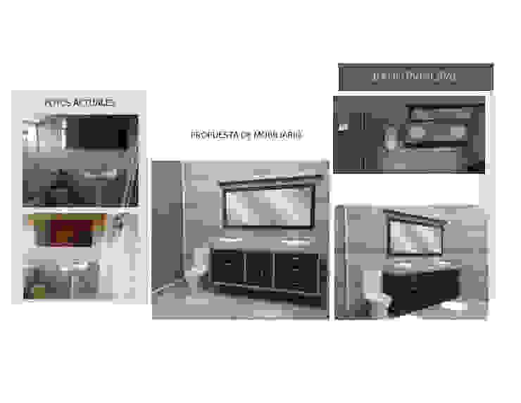 Mobiliario para Baño Existente MAS ARQUITECTURA1 - Arq. Marynes Salas Baños de estilo moderno