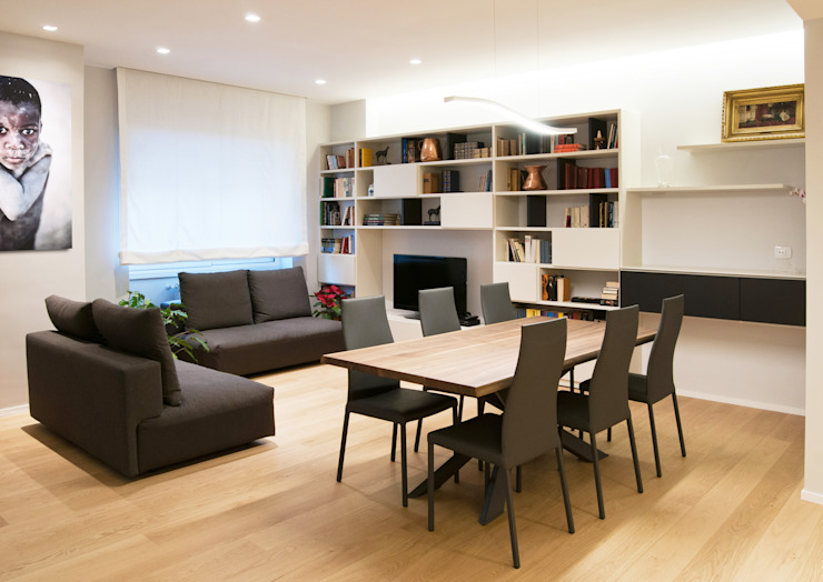 FLAT SC Modern living room by 07am architetti Modern