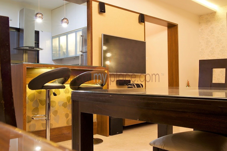dining bar Modern dining room by decormyplace Modern