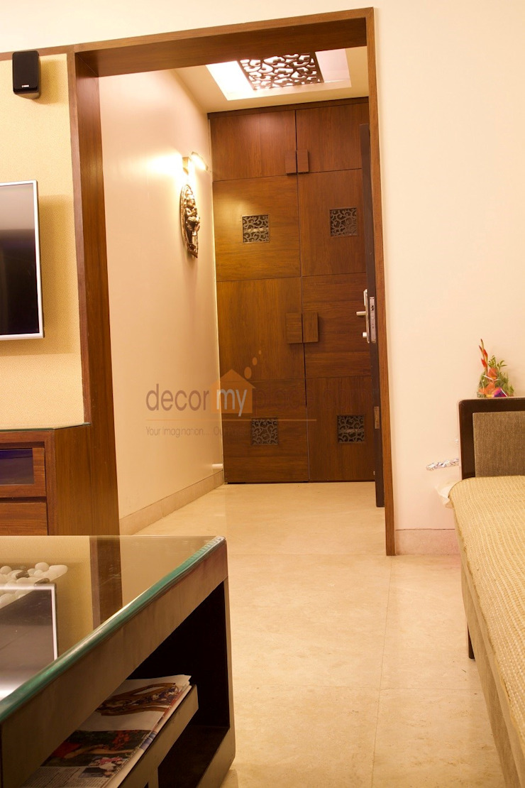 FOYER Modern corridor, hallway & stairs by decormyplace Modern