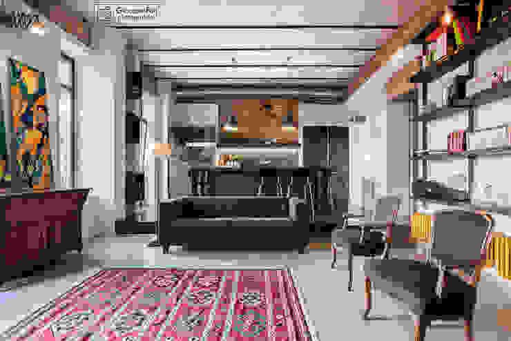 Casa privata a Testaccio (arch. Bartolomeo Quintiliani) Giacomo Foti Photographer Soggiorno in stile industriale
