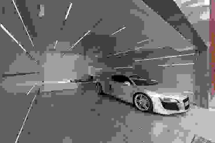 Garage/shed by Millimeter Interior Design Limited,