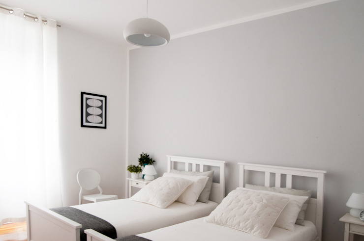 APPARTAMENTO MG: Camera da letto in stile  di 07am architetti, Scandinavo