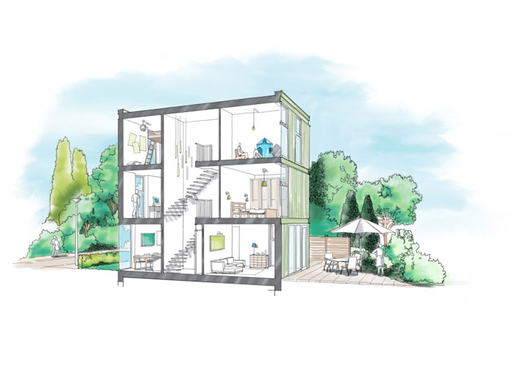 Datcha 2 Moderne huizen van Wessel van Geffen Architecten Modern