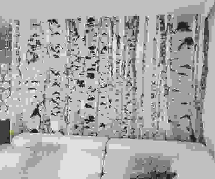 FOTO-MURAL ABEDULES Salas de estilo escandinavo de Flap deco Escandinavo