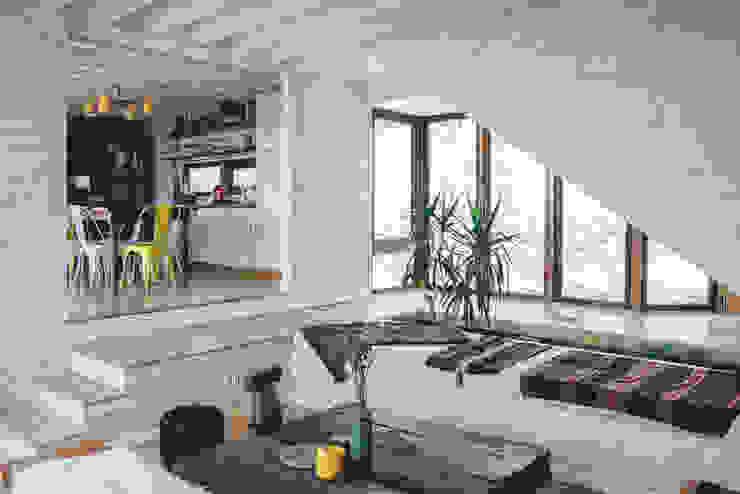 living y comedor-cocina Livings de estilo rústico de Thomas Löwenstein arquitecto Rústico Madera Acabado en madera