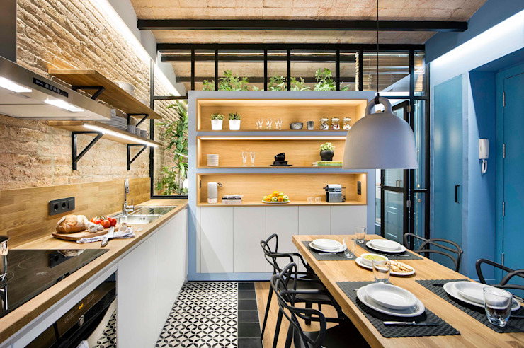 Nhà bếp phong cách Địa Trung Hải bởi Egue y Seta Địa Trung Hải