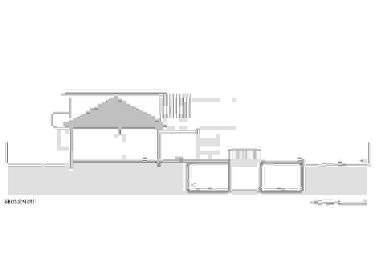 sección longitudinal Casas estilo moderno: ideas, arquitectura e imágenes de Thomas Löwenstein arquitecto Moderno Concreto