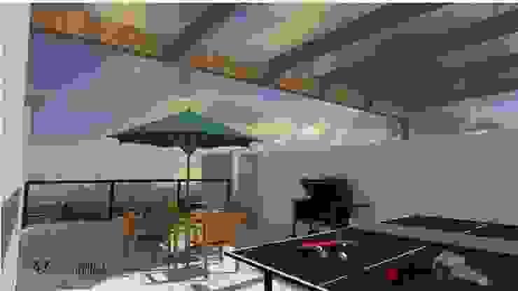 Ho.Av. Balcones y terrazas minimalistas de Urbe. Taller de Arquitectura y Construcción Minimalista