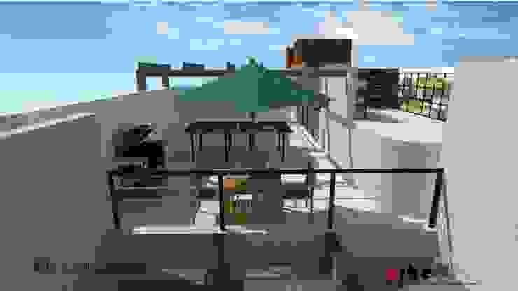 Ho.Av. Urbe. Taller de Arquitectura y Construcción Balcones y terrazas minimalistas