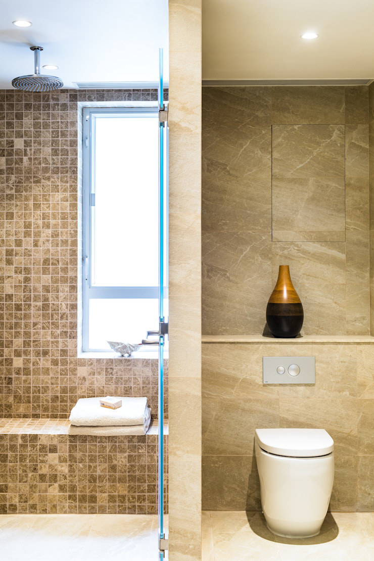 Modern bathroom by Nicole Cromwell Interior Design Modern Tiles