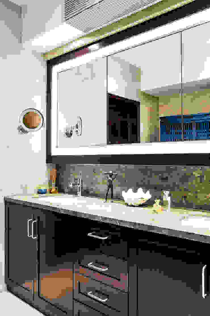 Modern bathroom by Nicole Cromwell Interior Design Modern Wood Wood effect