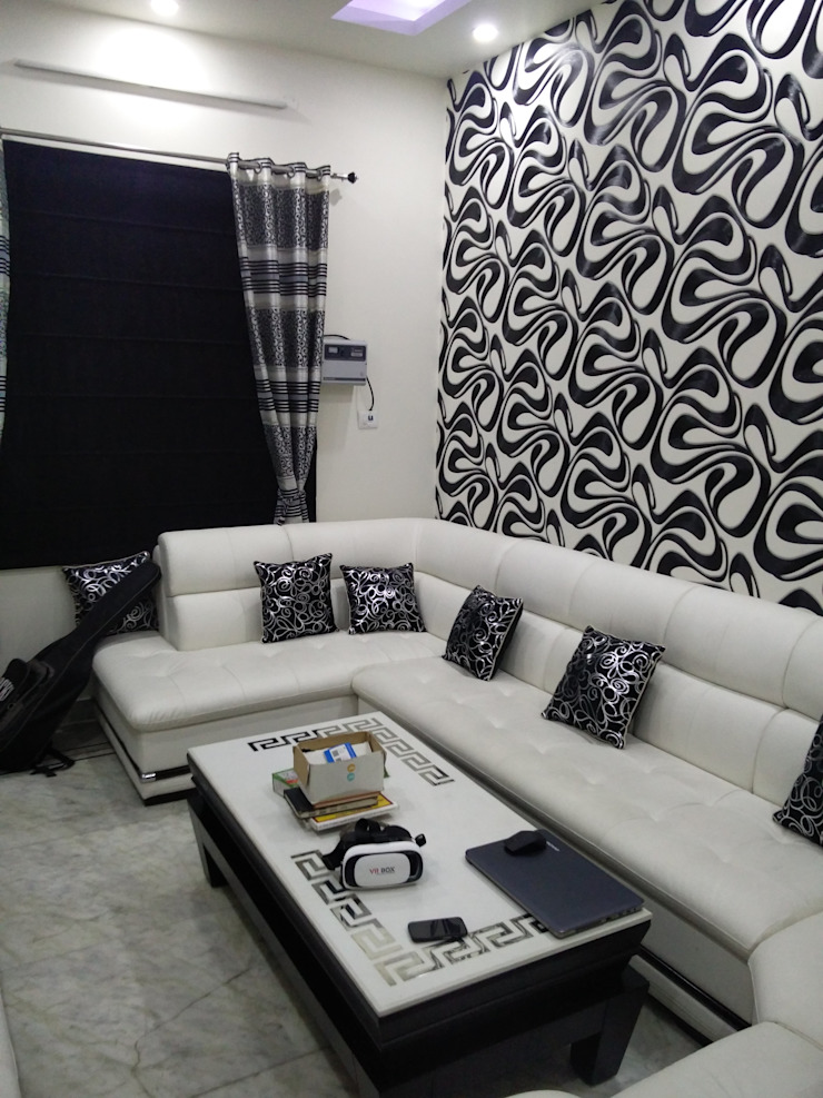 modern  by Fabros Interiors, Modern Leather Grey