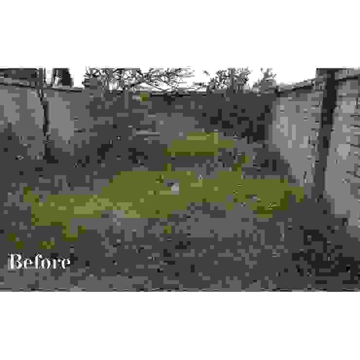 後院改造前 根據 霖森園藝