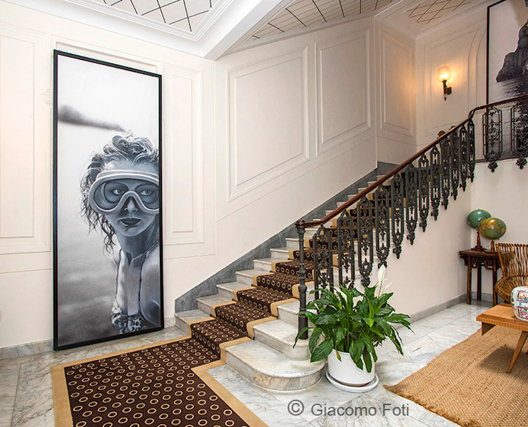 Giacomo Foti Photographer Classic style corridor, hallway and stairs