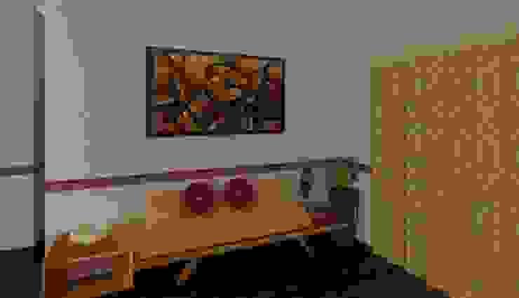3 BHK (Trimetrix Constructions) Minimalist living room by Kreative design studio Minimalist