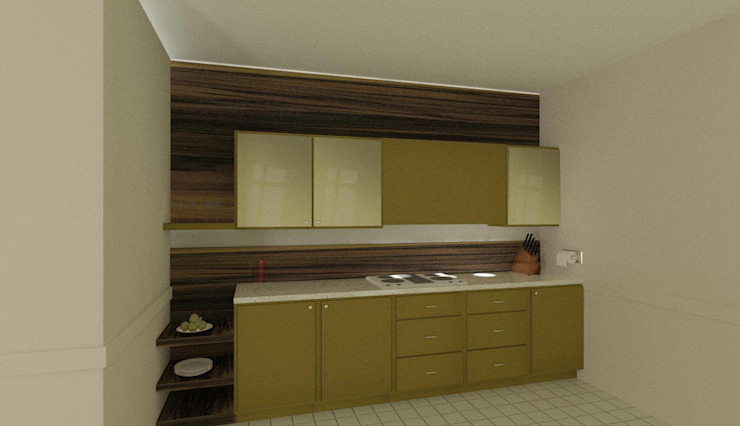 Kitchen (3 BHK, Lodha) Classic style kitchen by Kreative design studio Classic Wood Wood effect