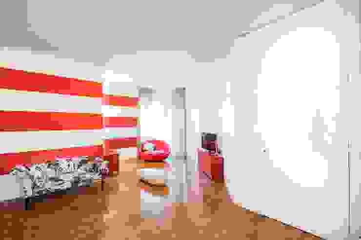 UAU un'architettura unica Ausgefallene Wohnzimmer Mehrfarbig