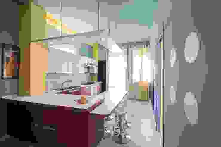 UAU un'architettura unica Eclectic style kitchen Multicolored