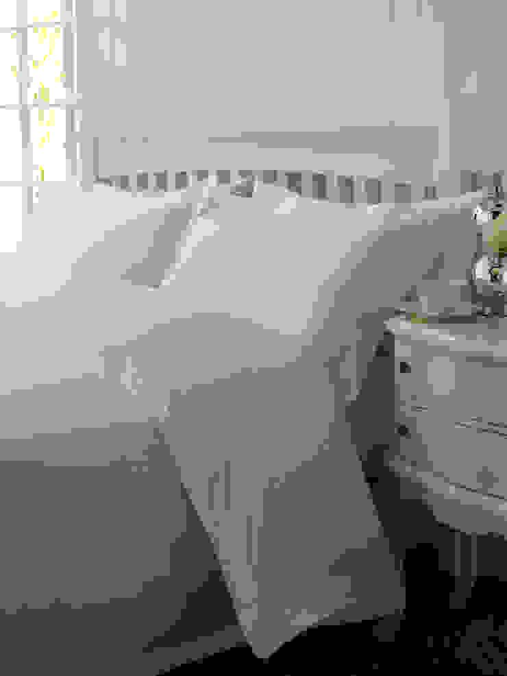 2 Row Cord Boutique Quality Egyptian Cotton Percale Bedlinen King of Cotton DormitoriosTextiles Algodón Blanco