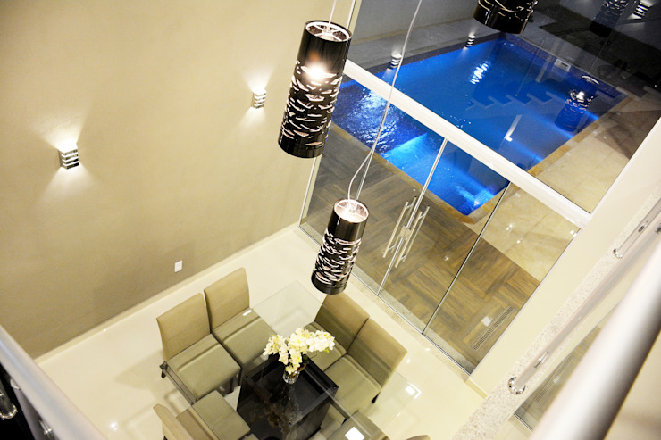 Casa M&C Híbrida Arquitetura, Engenharia e Construção Salas de jantar modernas