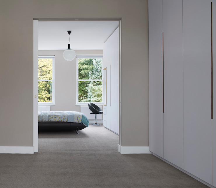 Church Crescent Bedroom Andrew Mulroy Architects Moderne Schlafzimmer