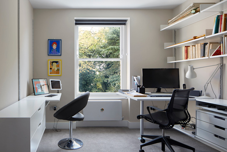 Church Crescent Study Modern Study Room and Home Office by Andrew Mulroy Architects Modern