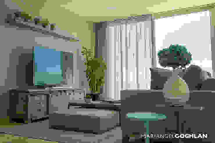 Proyecto Palmas Moderne Wohnzimmer von MARIANGEL COGHLAN Modern