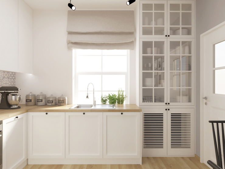 SO INTERIORS ARCHITEKTURA WNĘTRZ Rustikale Küchen Holz Weiß
