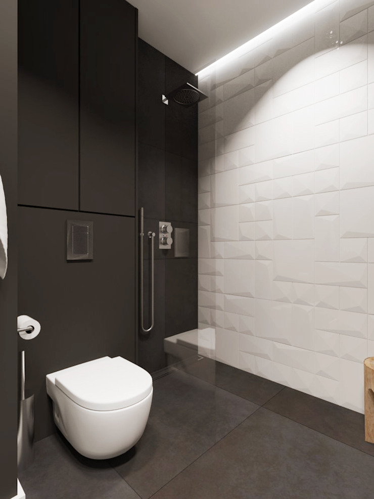 Casas de banho modernas por SO INTERIORS ARCHITEKTURA WNĘTRZ Moderno
