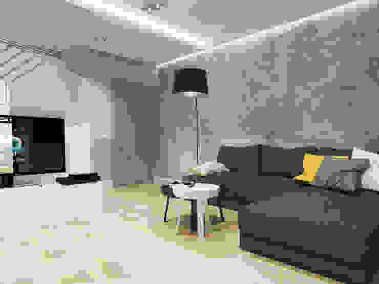 Salas de estar modernas por SO INTERIORS ARCHITEKTURA WNĘTRZ Moderno