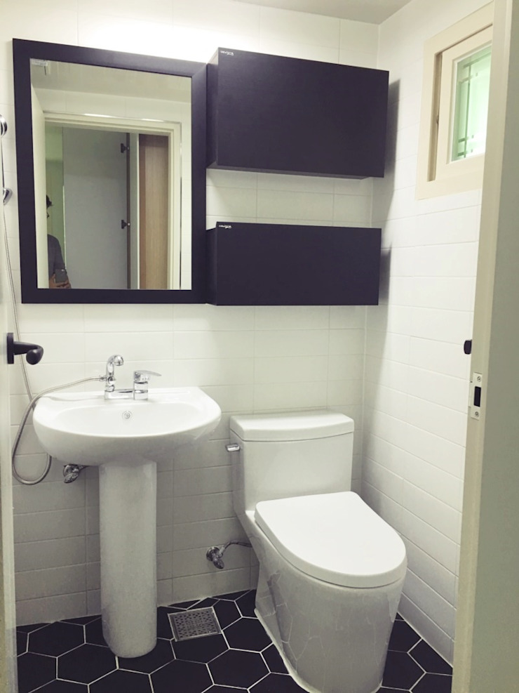 [홈라떼] 인천 32평 오래된 빌라, 모던한 홈스타일링 모던스타일 욕실 by homelatte 모던
