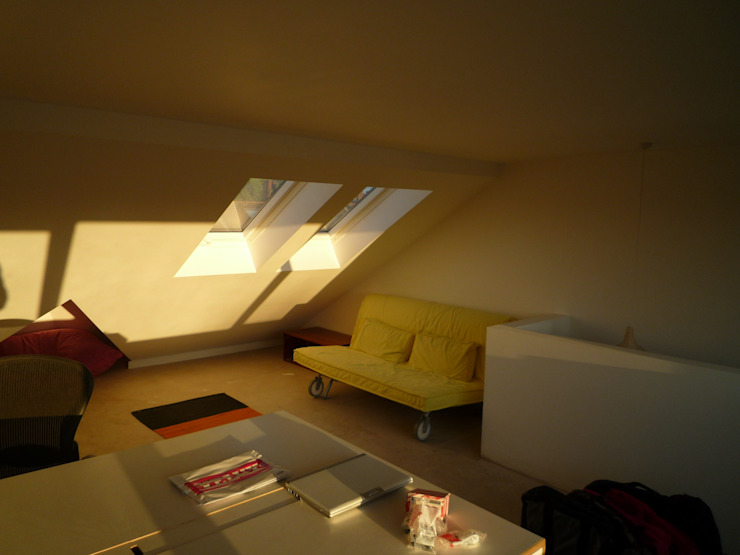 Loft conversion Modern Study Room and Home Office by A2studio Modern