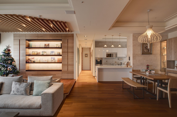 生活溫度 現代廚房設計點子、靈感&圖片 根據 芸采創意空間設計-YCID Interior Design 現代風