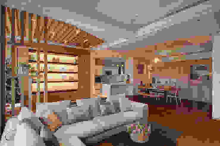 生活溫度 现代客厅設計點子、靈感 & 圖片 根據 芸采創意空間設計-YCID Interior Design 現代風