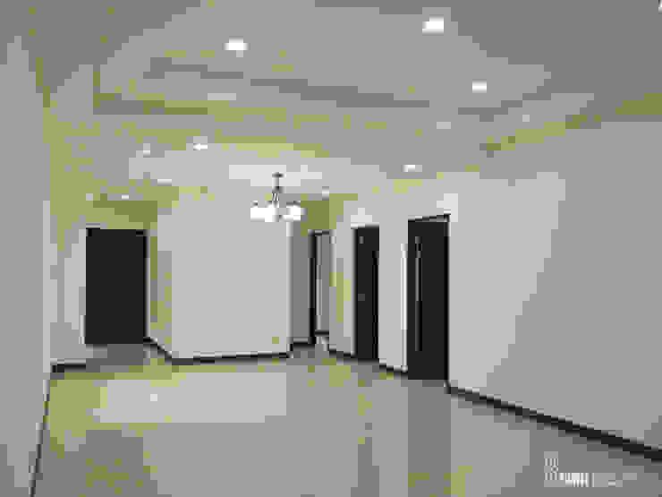 客餐廳 现代客厅設計點子、靈感 & 圖片 根據 以恩室內裝修設計工程有限公司 現代風