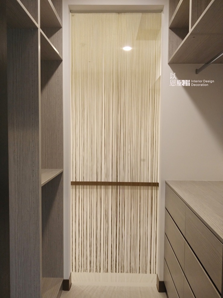 主臥更衣室 根據 以恩設計 現代風